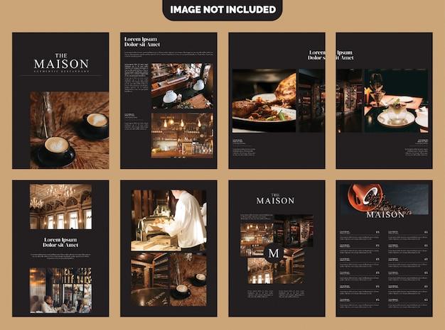 Koffie bedrijf brochure template