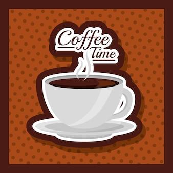 Koffie beker warme drank verse stippen achtergrond
