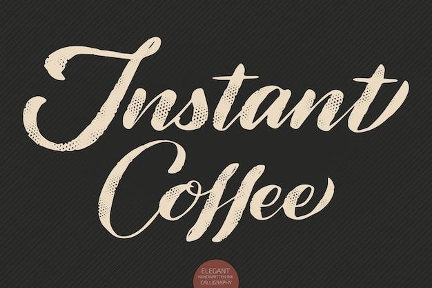 Koffie belettering. hand getekende kalligrafie instant koffie. elegante moderne kalligrafie inkt illustratie.