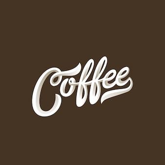 Koffie belettering kalligrafische vintage compositie