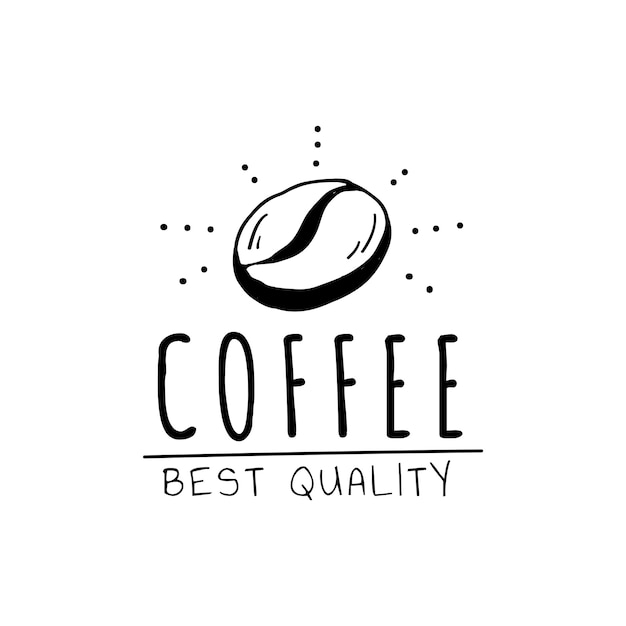Koffie beste kwaliteit logo vector