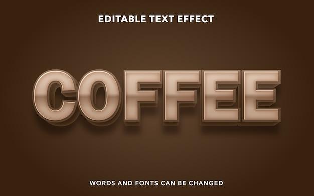 Koffie bewerkbare teksteffectstijl