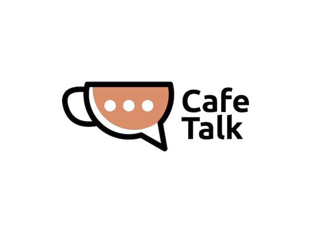 Koffie café tal logo ontwerpconcept