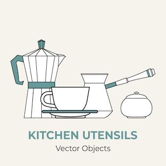 Koffie concept illustratie