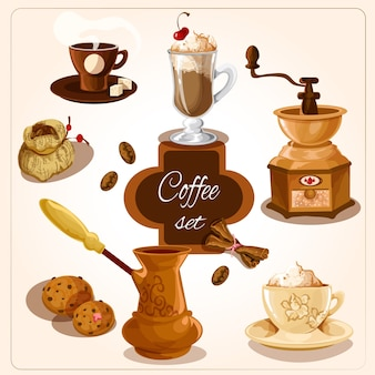 Koffie decoratieve set