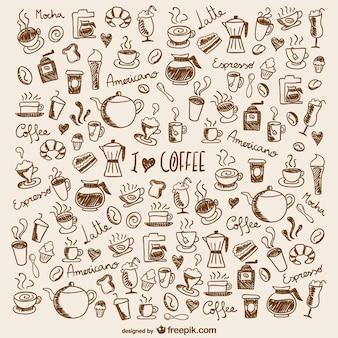 Koffie doodles