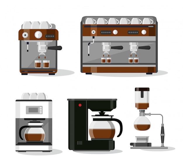 Koffie drinken illustratie
