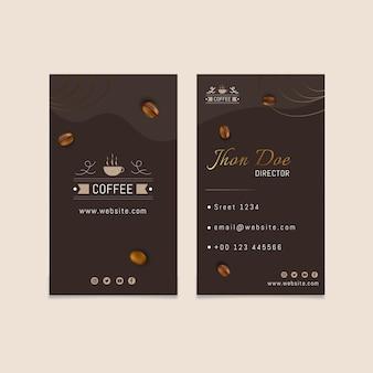 Koffie dubbelzijdig visitekaartje
