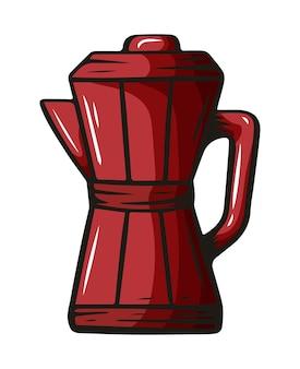Koffie-element, hand getrokken schets van drankje voor café-menu