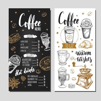 Koffie- en bakkerijrestaurant menu
