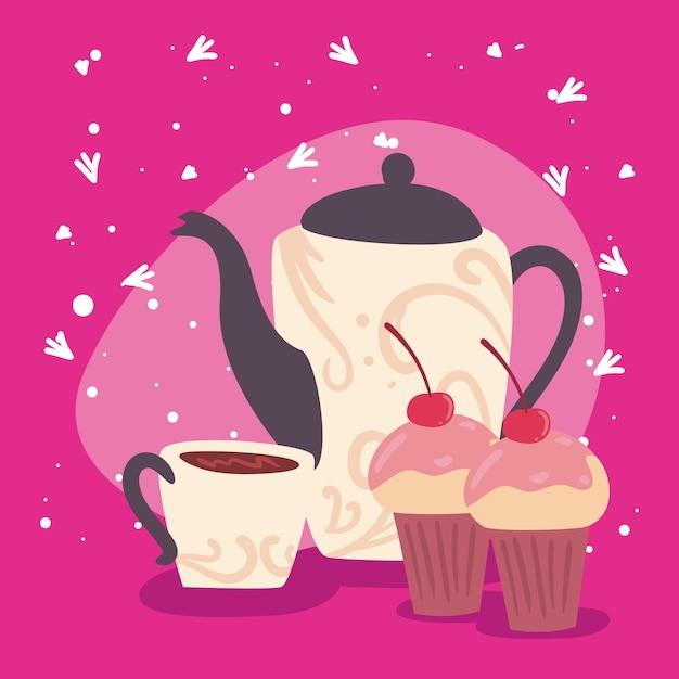 Koffie en cupcake