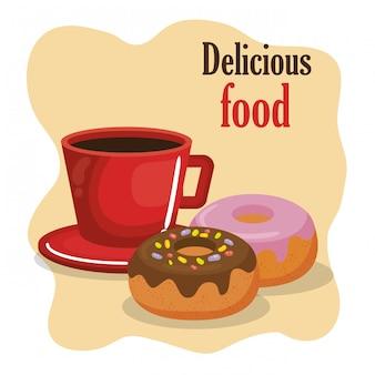 Koffie en donuts menu