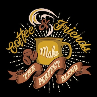Koffie en vrienden vormen de perfecte mix