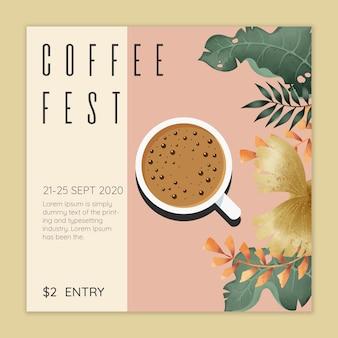 Koffie fest concept