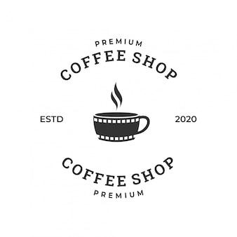 Koffie film logo concept inspiratie.