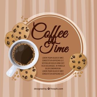 Koffie frame achtergrond