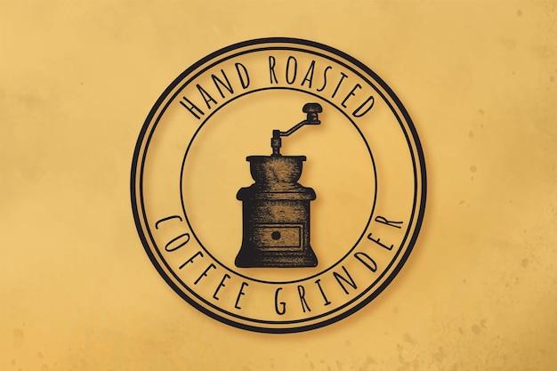 Koffie gebrande winkel logo ontwerp inspiratie