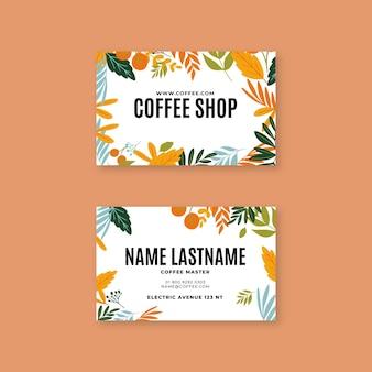 Koffie horizontaal visitekaartje