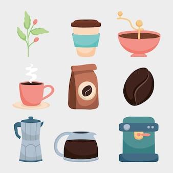 Koffie icoon collectie