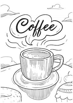 Koffie illustratie