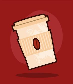 Koffie in wegwerp take away