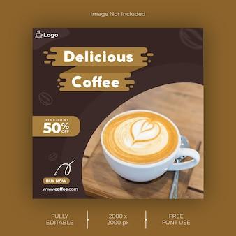 Koffie instagram post-sjabloon
