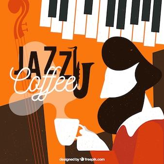 Koffie jazz achtergrond