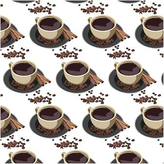 Koffie kop patroon achtergrond