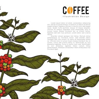 Koffie kunst illustratie voor in alle media