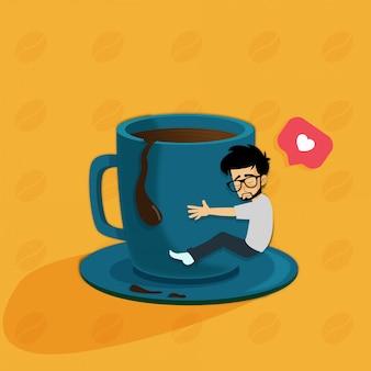 Koffie liefde ochtend