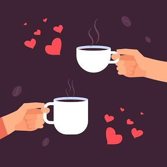 Koffie liefhebbers illustratie