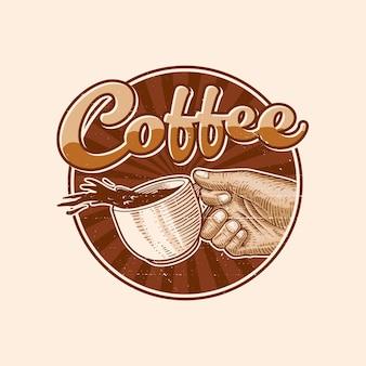 Koffie logo illustratie