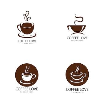 Koffie logo pictogram vector illustratie sjabloon