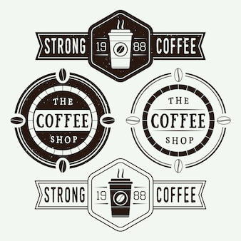 Koffie logo's, etiketten