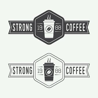 Koffie logo set