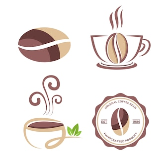 Koffie logo symbool voor cafe industrie