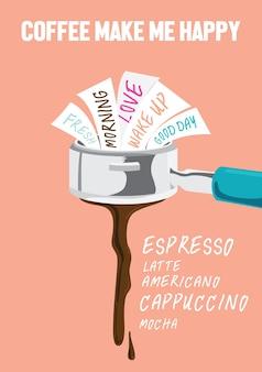 Koffie maakt gelukkig