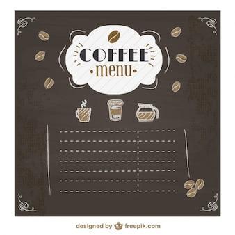 Koffie menu bord ontwerp