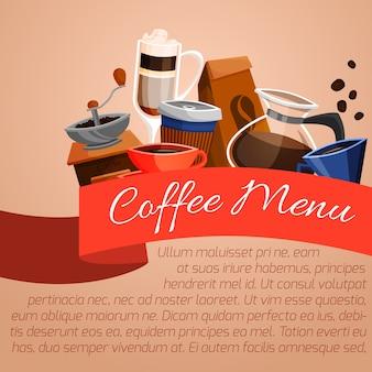 Koffie menu poster