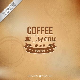Koffie menu vector met textuur