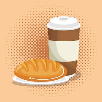 Koffie met brood eten
