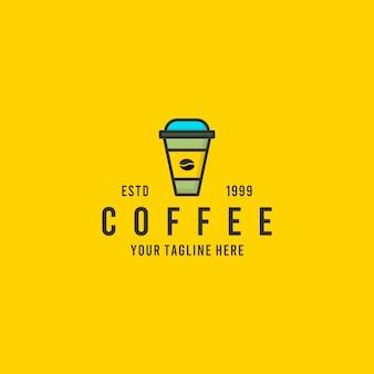Koffie minimalistische logo-ontwerpinspiratie