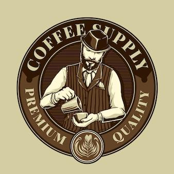 Koffie mixers in coffeeshop logo