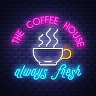 Koffie neonreclame