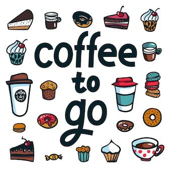 Koffie om te gaan poster