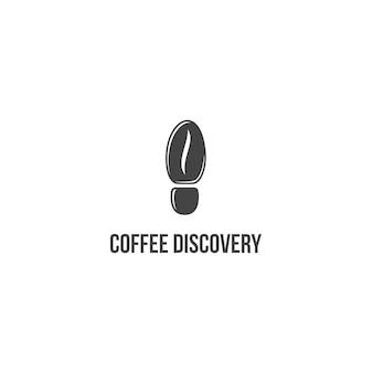 Koffie ontdekking logo geweldige inspiratie