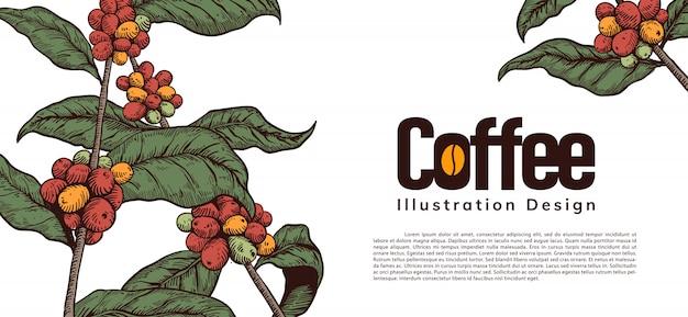 Koffie ontwerp illustratie
