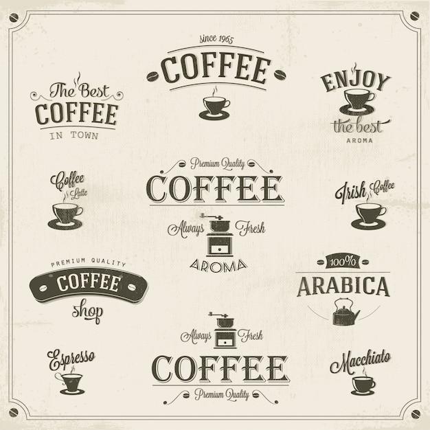 Koffie ontwerpset