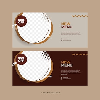 Koffie ontwerpsjabloon voor coffeeshop