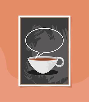 Koffie op schoolbord